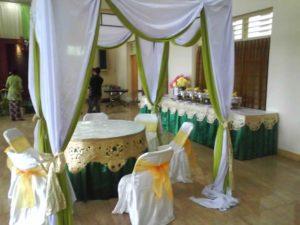 meja VIP nuansa hijau