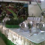 buffet nuansa hijau