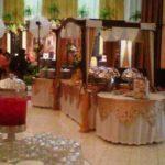 buffet nuansa putih emas