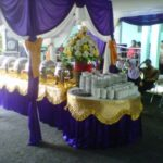 buffet nuansa ungu + gasebo kain