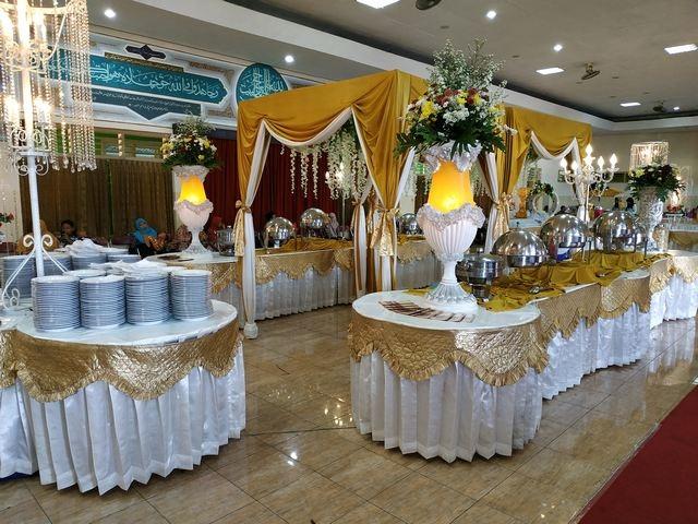 penataan buffe di gedung PDHI alun-alun utara yogyakarta-catering pernikahan jogja